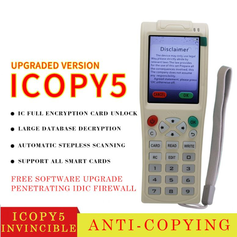 ICOPY5 Upgraded ID Full Frequency H-ID Key Reader IC Elevator Access Control Full Encryption Card Replicator