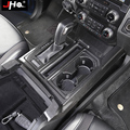 JHO REAL Carbon Fiber Gear Shift Cup Holder Panel Overlay Cover Trim For Ford F150 2017-2019 Raptor 2018 Gen 2 Accessories 2020