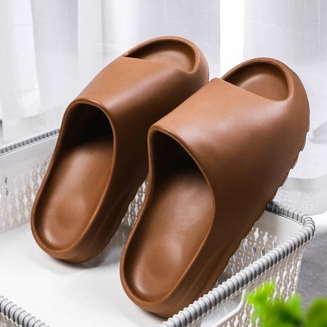 WEH Summer Slippers Men Women Indoor Eva 2021 Cool Soft Bottom Sandals Trend Slides Light Beach Shoes Slippers Home big size 46 1