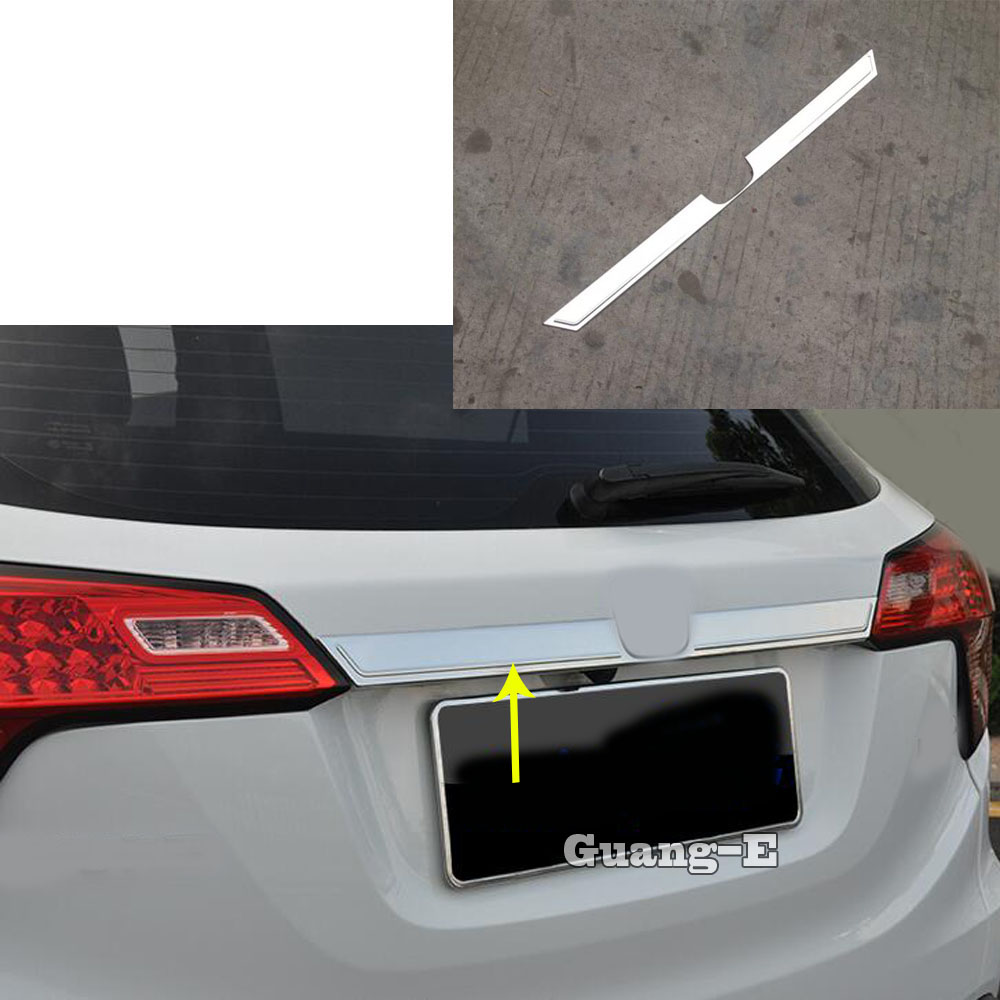 2Pcs Stainless Rear Trunk Lid Tail Gate Molding Cover Trim For Honda Accord 2018