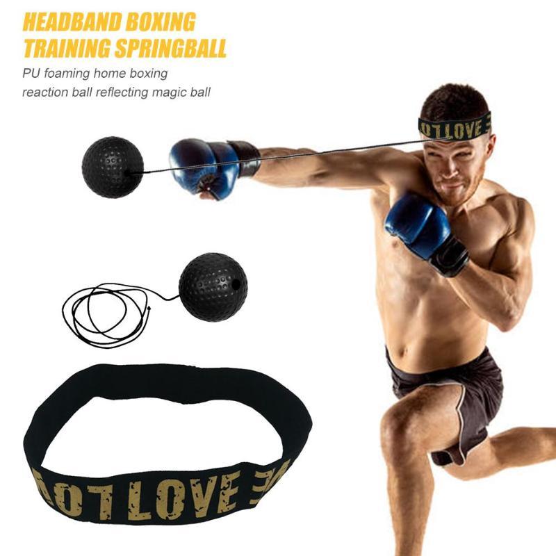 Mayitr Fight Boxeo Ball Boxing Head Band Reflex Speed Training boxing magic ball