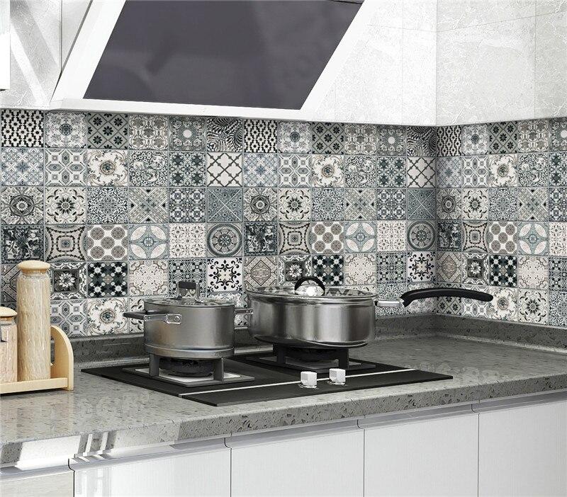 Самоклеящиеся наклейки на стену, высокотемпературные самоклеящиеся водостойкие наклейки на стену для ванной, кухни, B6004