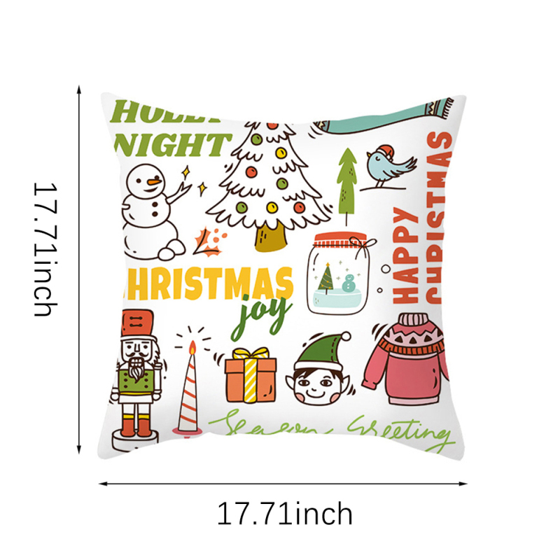 Nanacoba christmas cartoon deer pillow case xmas tree bell print
