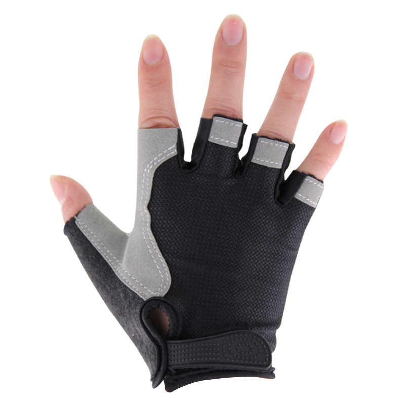 Half-finger Gloves Fitness Gloves Sports Outdoor Riding Sun-resistant Anti-slip Wear-Resistant Breathable Cushioning Cycling Glo