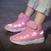 Children Shoes kinder Light Led luminous Shoes Boys Girls USB Charging Sport Shoes Casual Led Shoes Wing Kids Glowing Sneakers