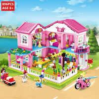 Casa de la ciudad gran jardín Villa bloques de construcción juegos Castillo yates amigos princesa LegoINGLs figuras ladrillos Juguetes para niñas