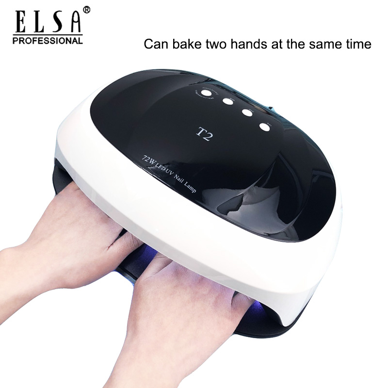 72w Nail Dryer LED Lamp 36PCS LEDs Dual Hands Nail Lamp For Curing UV Gel Nail Polish With 10/30/60s Timer Smart For Manicure