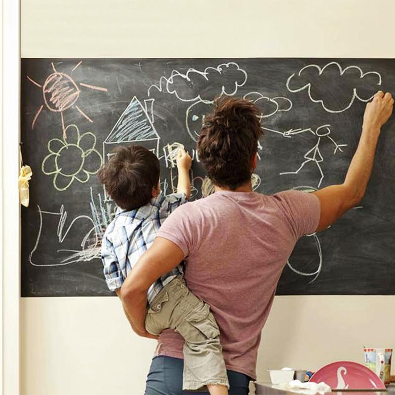 45x200cm Chalkboard Blackboard Stickers Removable Vinyl Draw Erasable Blackboard Learning Multifunction Office