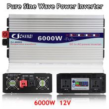 Inverter 12V 220V 3000W/4000W/5000W/6000W Intelligent Voltage transformer Pure Sine Wave Solar Power Inverter 12V/24V To 220V