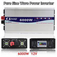 Omvormer 12V 220V 3000W/4000W/5000W/6000W Intelligente Spanning Transformator Zuivere sinus Zonne energie Omvormer 12V/24V Naar 220V