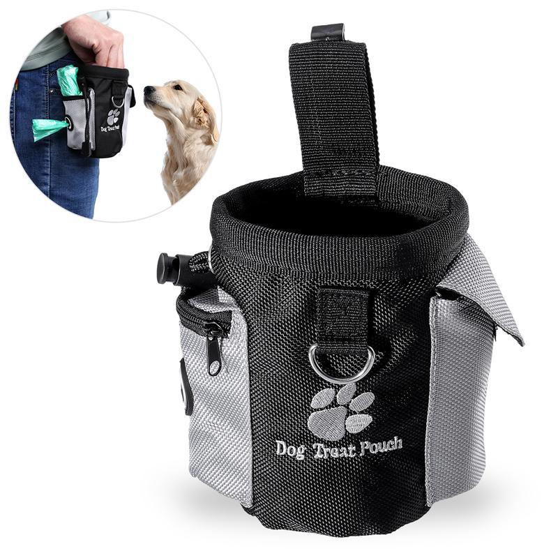 Dog Treat Pouch font b Pet b font Hands Free Training Waist Bag Drawstring Carries font
