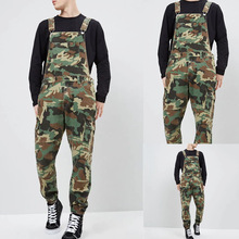 Mens Jeans Camouflage Urban Trousers Outdoor Denim Tooling Multi-bag Pants Strap Army green pants