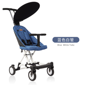 Image 4 - 2019 New simple pure color dexterous baby stroller comfortable multifunctional baby stroller