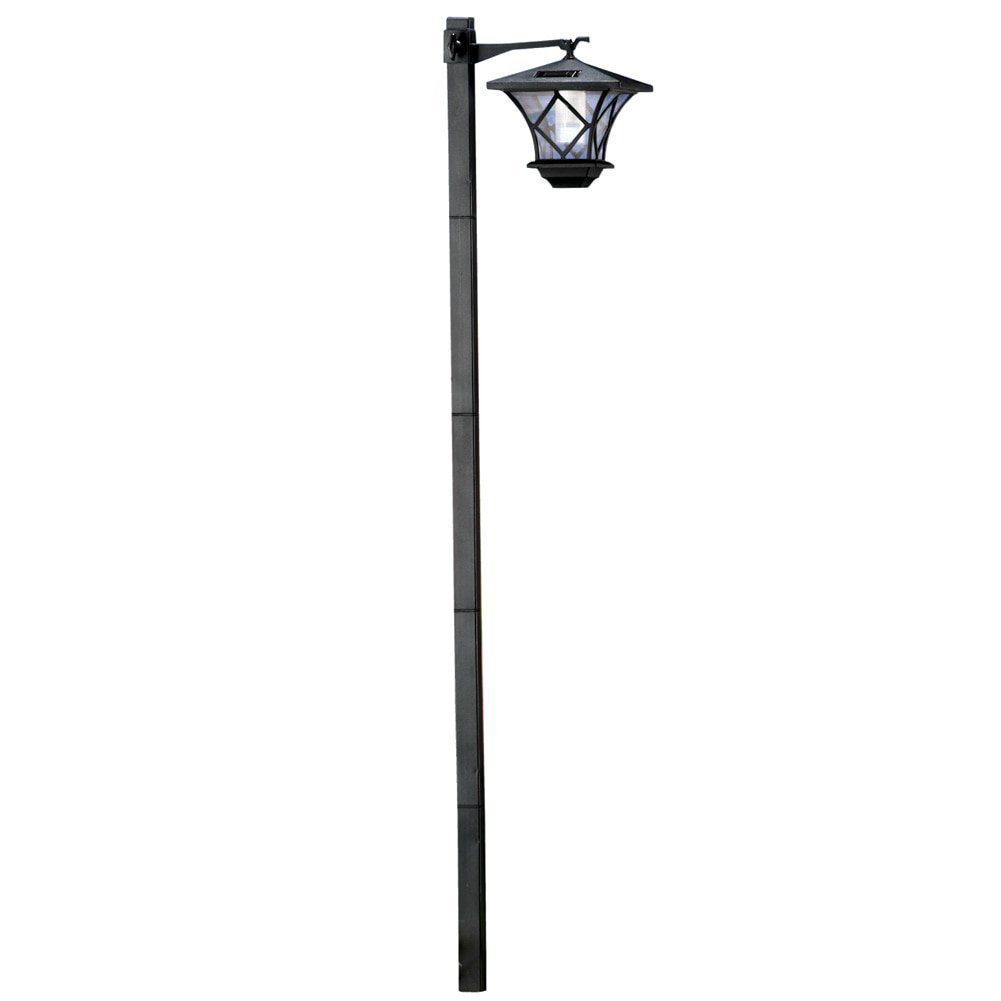1.5 M Post Light Practical Durable Lawn Wireless Adjustable Height Sturdy Solar Powered Yard Waterproof Weather Resistant