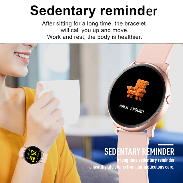 LIGE 2019 New Color Screen Waterproof Women Smart Watch Men Heart Rate Blood Pressure Monitoring Smartwatch relogio inteligente