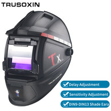 Solar Auto Darkening Wlding Mask/Helmet/Welder Cap/Welding Lens/Eyes Glasses for Welding Machine and Plasma Cutting Tool(China)