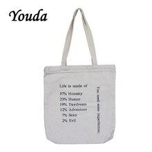 Youda New Female Handbags Hot Selling Fashion Handbag Canvas Tote Ladi
