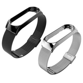 Pulsera para mi Band 4 3 correa de muñeca de Metal sin tornillos de acero inoxidable para Xiaomi mi Band 4 3 pulseras de correa pulseira mi banda 4 3