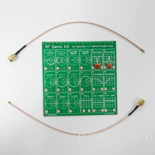 Free shipping RF Demo Kit For NanoVNA VNA RF Test board Vector Network Test Filter / Attenuator