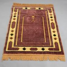 Cashmere Like Thick Prayer Mat Muslim 70*110cm Home Blanket Exquisite Decoration Bedroom Portable Namaz Islamic Praying Mats