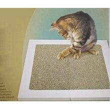 1 пара скребок для кошек картонная квадратная текстуры дизайн