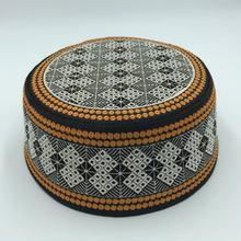 Caps Hut Kufi Arabe-Hats Round Flat Men Beanies Moslim Saudi Embroidered Islamic Damen