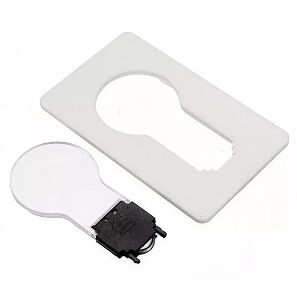 Mini LED Card Pocket Light Bulb Wallet Light Novelty Lighting Portable 3V CR1216 Lamp Credit Card Size Home Illumination Decor