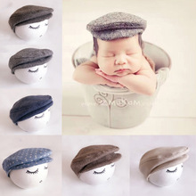 Baby Newborn Peaked Beanie Cap Hat Bow Tie Photo Photography