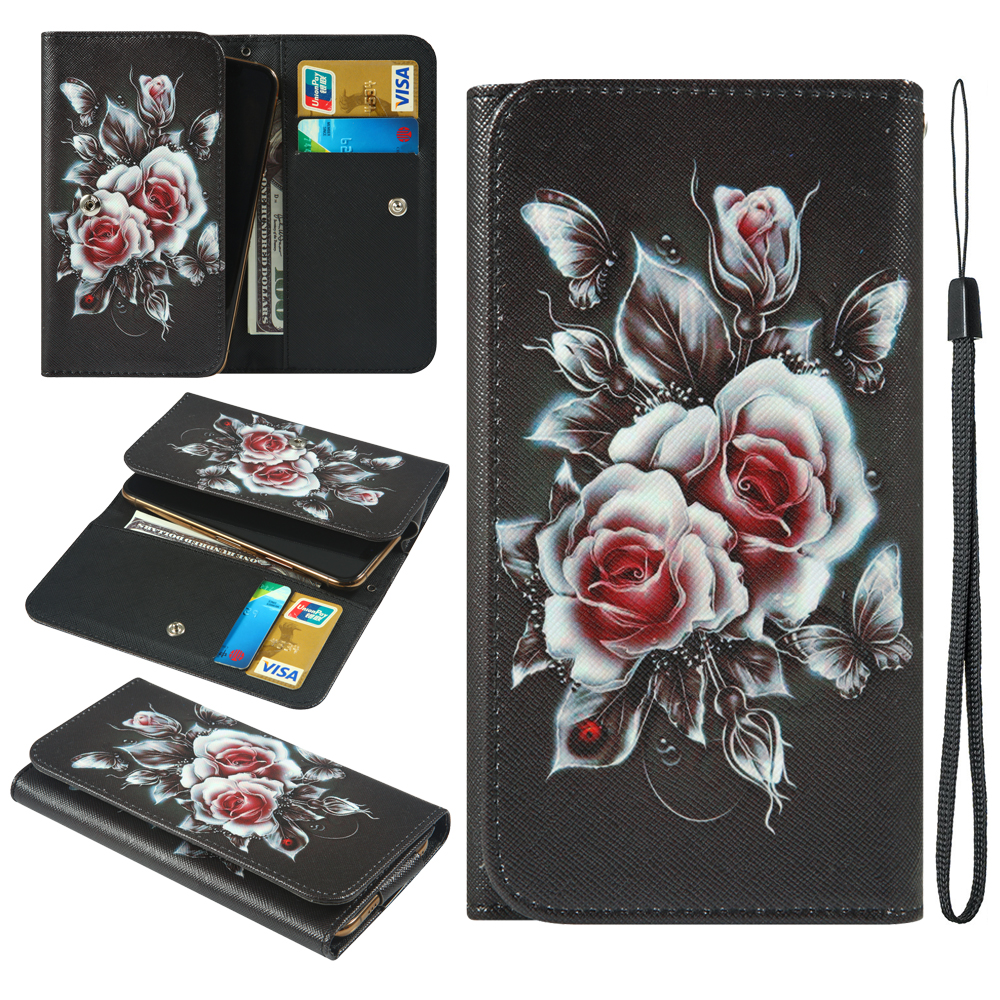 For Itel A16 Plus A46 A52 Lite Jinga Hit 4G Neon Pass 3G Start LTE Painted  Wallet Style With Card