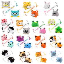 1PC Cute Cat Plush Doll pulpo reversible Plush Toy Soft Double-sided Flip Cat Doll Children Girls Doll Home Decoration