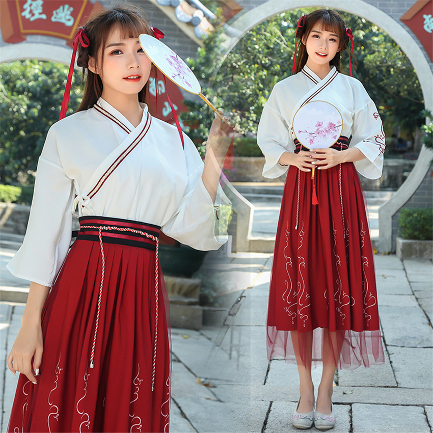 Ancient Chinese Traditional Costumes Woman Fairy Han Dynasty Retro Clothing Summer National Stage Dresses Outfits For Lady