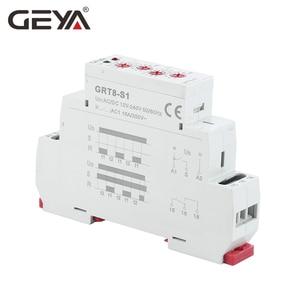Image 4 - 送料無料 geya GRT8 S 非対称サイクルタイマーリレー spdt 220 v 16A ac/DC12V 240V 電子繰り返しリレー