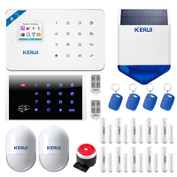 KERUI W18 Wireless Wifi GSM IOS/Android APP Control LCD GSM SMS Burglar Alarm System Set For Home Security Russian/English Voice