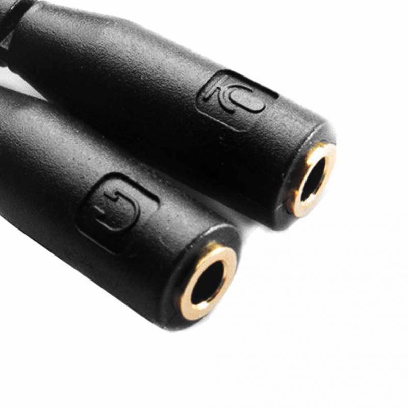 35 мм один два наушников аудио кабель Мужской Женский телефонный