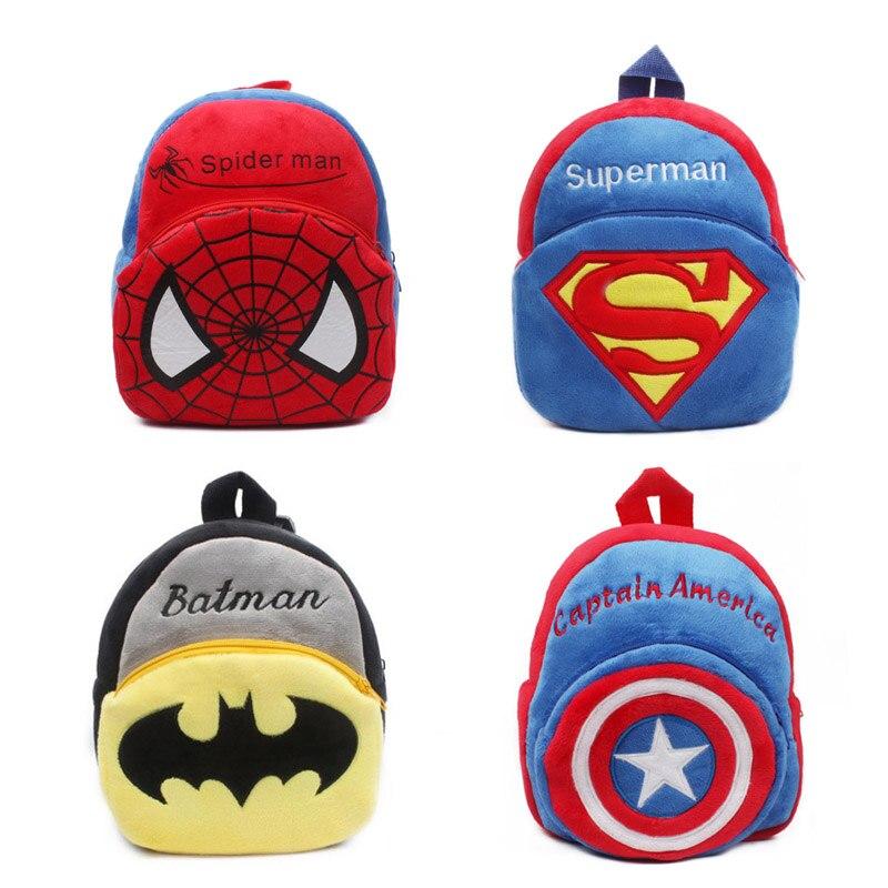 Cartoon Spide Kids School Bags For Girls Soft Plush Kids Bag Kindergarten Toddler Children School Backpack For Boys