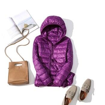 New Brand 90% White Duck Down Jacket Women Autumn Winter Warm Coat Lady Ultralight Duck Down Jacket Female Windproof Parka 17