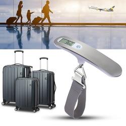 Cyfrowa wisząca waga bagażowa waga ze stali nierdzewnej 50KG na walizka podróżna torba vj drop w Wagi kuchenne od Dom i ogród na