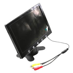 Image 5 - Moniteur de recul pour voiture 7 pouces 10.1x1024, écran LCD TFT, entrée vidéo TV, 2 AV, moniteur AV de stationnement pour voiture