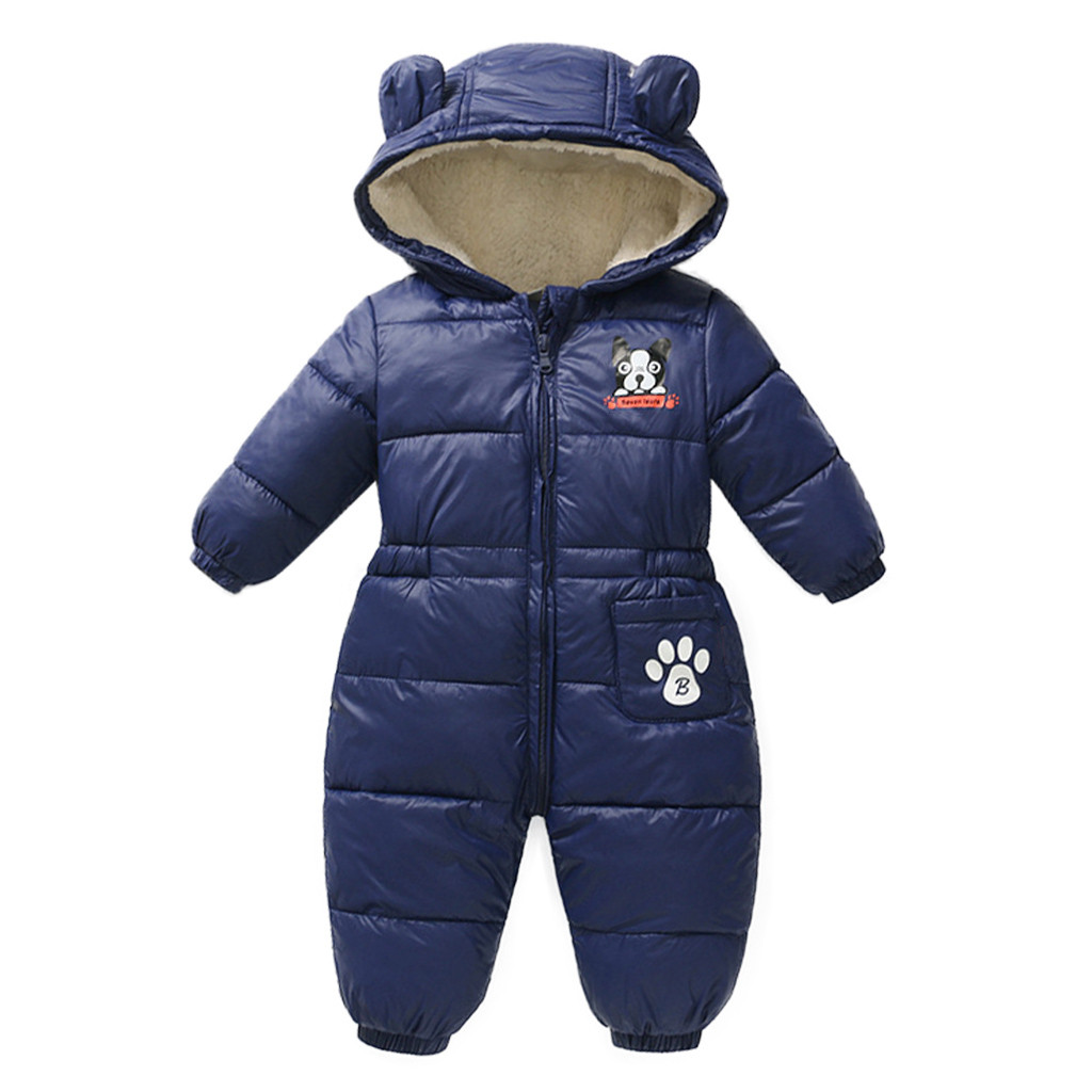 Outfits Jumpsuit Romper Snow-Wear Baby Baby-Boys-Girls Newborn Winter Infant Warm Cartoon title=