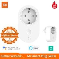 Global Versie Xiaomi Mi Smart Wifi Eu Plug Afstandsbediening Schakelaar Aan Of Uit Met App Werken Met Amazon Alexa google Assistent|Thuis Automatiseringsmodulen|   -