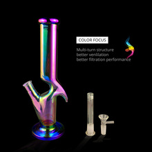 2019 New Hot Sale Multicolor Glass Pipe Set Borosilicate Percolator