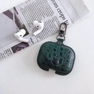 Image 5 - Caso di Lusso in Pelle di Coccodrillo Auricolare Custodie per Airpods 3 Sacchetto di Immagazzinaggio Earburds Coperchio di Protezione Caso di Baccelli di Aria Pro Accessori