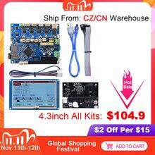 デュエット2 wifi V1.04クローニングduetwifi 32ビット制御ボード + 4.3 57 paneldueタッチスクリーン3Dプリンタ部品cncエンダー3プロDuex5
