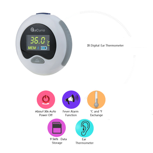 Image 3 - אוזן מדחום דיגיטלי אינפרא אדום LCD טמפרטורת צג מיני אוזן מדחום עבור תינוק ילדים מבוגרים