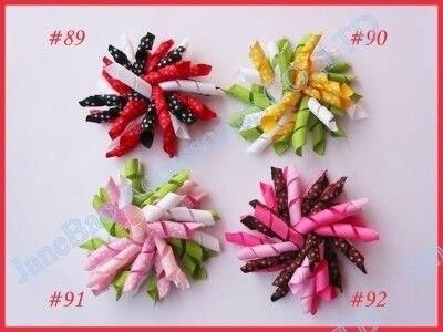 3,5 ''585 шт коркер банты для волос Смешанные сотни цветов коркер заколки для волос цветные