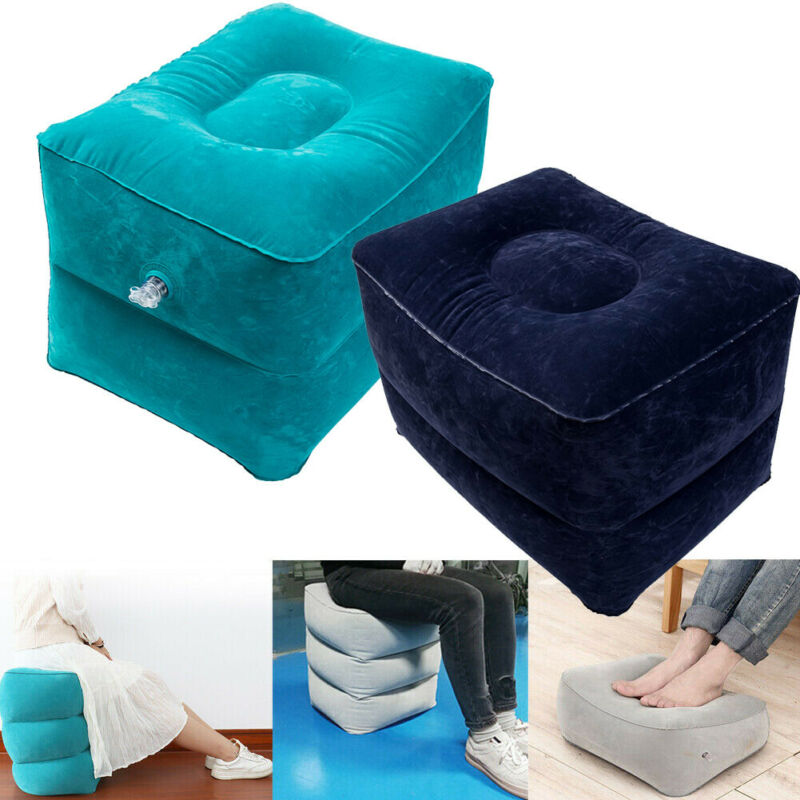 Home Textile Inflatable Foot Rest Travel Air Pillow Cushion Office Leg Up Relax Kids Bed PVC 40x30x43cm Pad
