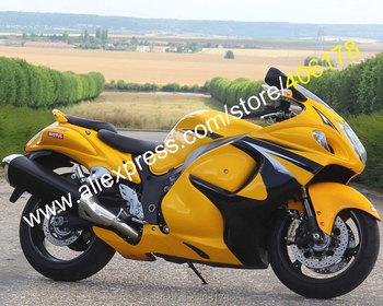 For GSXR1300 Parts 2008-2016 Hayabusa GSX-R1300 08-16 Yellow Black Sportbike Fairing Kit (Injection molding)