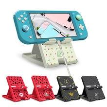 Suporte do jogo suporte dobrável ajustável portátil chassis suporte playstand compacto para nintendo switch/smartphone