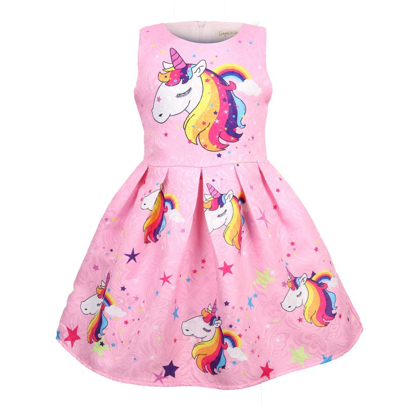 Hot Sale <font><b>Girl</b></font> <font><b>Dress</b></font> Unicorn <font><b>Dresses</b></font> Elsa Little <font><b>Girls</b></font> Clothing Baby <font><b>Girl</b></font> Clothes <font><b>Princess</b></font> Party Clothing Kids Christmas <font><b>Dress</b></font> image