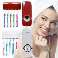 Automatic Toothpaste Dispenser Tooth Brush Holder Bathroom Accessories Set Toothbrush Wall Mount Rack Bathroom Tools Set